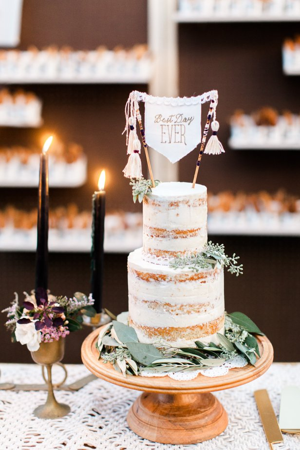 unique wedding cake-topper, naked cake